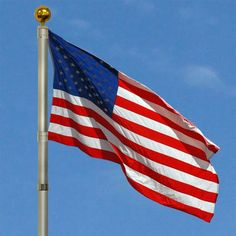 """Our flagpole extends from 5'2"""" to 16' in seconds. You will also receive a 3' X 5' American #Flag and Gold Ball. Our flags have No ropes, No chains and No pulleys..."""