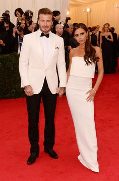 David and Victoria Beckham at the Met Gala