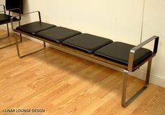 PLY BAK BENCH 4   with arm rests Mid Century Modern Bench. $560.00, via Etsy.