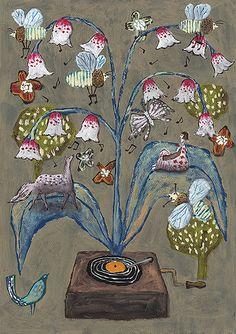 Everyone sing | Illustration by Tetsuhiro Wakabayashi