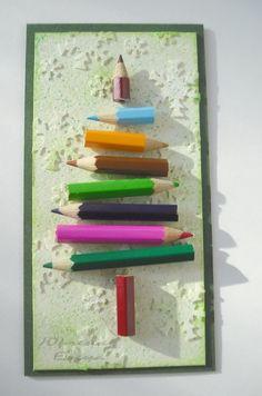 kerstboom van potloden