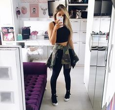 Find images and videos about look, outfits and closet on We Heart It - the app to get lost in what you love. Girl Fashion, Fashion Looks, Fashion Outfits, Womens Fashion, Cool Outfits, Casual Outfits, Swagg, Casual Looks, Spring Outfits