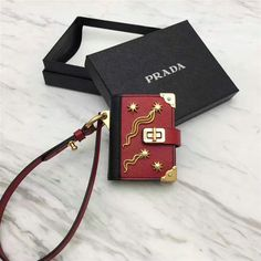 2017 Cheap Prada Cahier Two-tone Saffiano Leather Trick with metal details