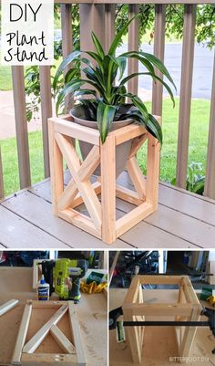 Woodworking Projects For Girls DIY plant stand pin.Woodworking Projects For Girls DIY plant stand pin Diy Garden Furniture, Diy Outdoor Furniture, Outdoor Couch, Furniture Ideas, Furniture Stores, Pallet Furniture, Outdoor Wood Bench, Diy Patio Furniture Cheap, Antique Furniture