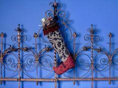 Ooak, Christmas Stocking/Elf Christmas Stocking/ Victorian Christmas Stocking/Boho Christmas Stocking by BellaLightStudios on Etsy