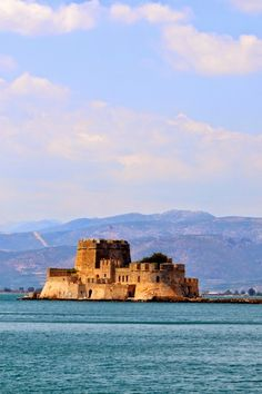 A Diary of Lovely: Best Summer Ever: Touring Nafplio in the Peloponese Places To Travel, Places To Visit, Beautiful Castles, Thessaloniki, Landscape Pictures, Athens Greece, Greece Travel, Beautiful Islands, Solo Travel