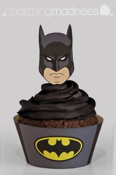 Batman Inspired Black Cupcake Wrappers & by CharmingMadness