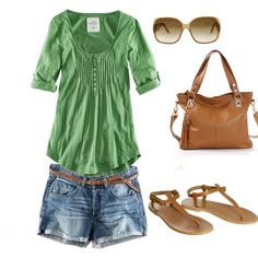 Casual Outfit-love the green