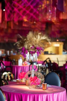 Fun, Pink and Fabulous. The Emmys, Centerpieces, Table Decorations, Event Decor, Florals, Awards, Tropical, Pink, Home Decor