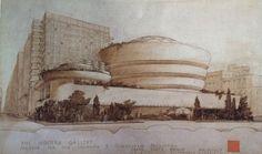 Disegno di presentazione per il Guggenheim Museum di New York - Frank Lloyd Wright