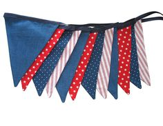 Stars & Stripes Flag Bunting. Party, Shop or Boys Bedroom Banner