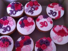 Cupcakes paars mer roze