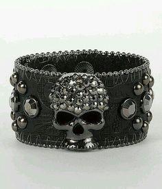 . Skull Bracelet, Skull Jewelry, Gothic Jewelry, Jewelry Box, Jewelry Accessories, Fashion Accessories, Jewellery, Punk Jewelry, Western Jewelry