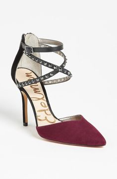 OOOOH. LA. LA. This shoe is gorgeous! Love the color, Love the straps, Love the studs!
