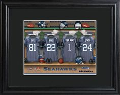 Seattle Seahawks Locker Room Photo