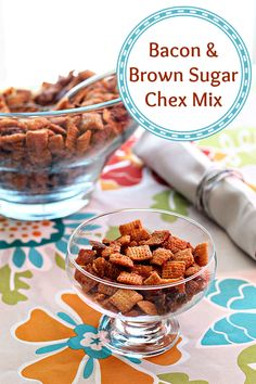 Brown Sugar Snack Mix – This combination of honey, brown sugar, and bacon is delicious! Try this recipe out next movie night!