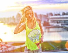 High On Life Tank Top Green Girls Loose Fit