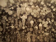Portrait of a group of lumberjacks. Vintage photography by unknown author. Worth sharing though!