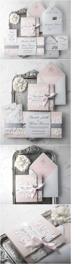 Rustic Wedding Invitation Suite (20), Wedding Invitations Rustic, Lace Wedding Invitations, Craft Wedding Invitations Lace, Wedding Invites #weddinginfographic