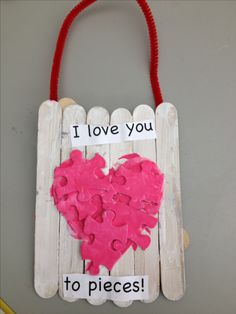 Craft idea found on Pinterest... My first graders made these as a Valentines Day craft for their parents.