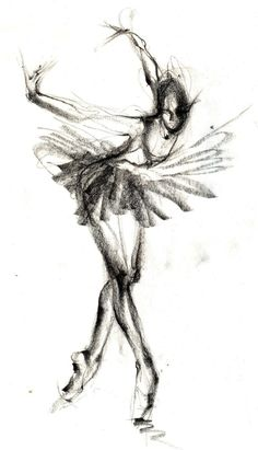 The Black Swan - Ballet Art - Etsy:  Similar to my drawing style. Might be useful for my costume designs