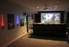 Overview of the movie/console gaming area