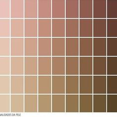 COUV L'Oréal colour chart of sixty-six skin tones Skin Color Palette, Palette Art, Nude Colors, Colours, Wie Zeichnet Man Manga, Color Palette Challenge, Skin Undertones, Photoshop, Color Shades