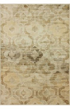 Rugs USA Beaumont Persian Tower Trellis Natural Rug - i like the absence of strong color for the dining room