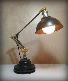 Found Object Industrial Light Sculpture by RetroSteamWorks