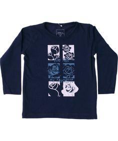 Name It schattige blauwe t-shirt met bloemen. name-it.nl.emilea.be