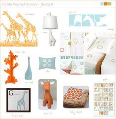 Giraffe theme nursery