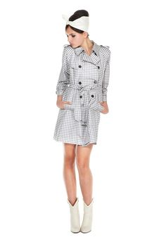Marc Jacobs Gingham Trench Coat #fashion SS12