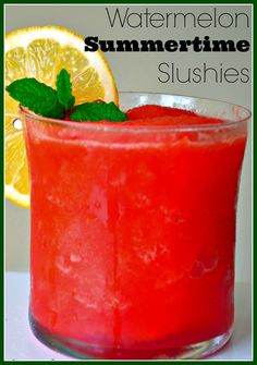These Watermelon Slushies from @Shonda Chadwick Spatulas | Joanne Ozug  are perfect for beating the heat this summer! http://www.ifood.tv/recipe/watermelon-slushies-frozen-summer-drink-idea