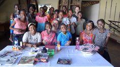 A group shot at the Chobe Safari Lodge beading workshop -- What a great success!