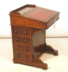 Antique Victorian Davenport Writing Desk.
