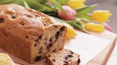 Bananas and berries bake into a moist and delicious quick bread.