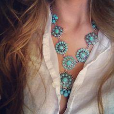 Zuni Style squash blossom necklace