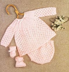 vintage baby matinee dress and pants set vintage by Ellisadine