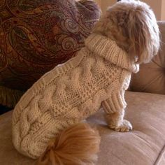 Dog Sweater  Classic Fisherman Cable Knit  Aran от bychancedesigns