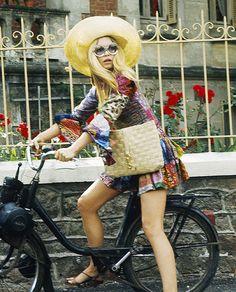 radioactive-beatle: Bardot on a bicycle, 1964