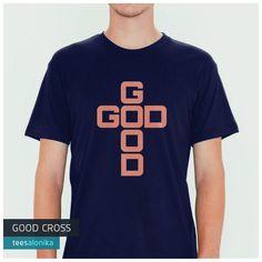 'Good Cross' — Kaos rohani (Kristen Protestan dan Katolik) bertuliskan God is Good (Tuhan itu baik) dalam susunan yang membentuk bentukan salib. Ukuran tersedia lengkap, dari 'kaos anak' sampai 'kaos dewasa'. Bisa kompakan bareng teman, sahabat dan keluarga. All items ready stock di www.teesalonika.com —— Info/order: 5EA8DA88 (BBM) / 08811575513 (WA/SMS) ——