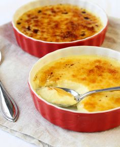 Crème Brûlée – Perfect Portion For Two! A beautifully caramelized top is cracked to reveal a creamy custard!