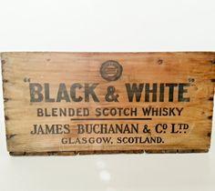 Wood Crate Rustic Box  Scotch Whiskey Storage by tarnishedhinge, $59.00