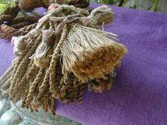 French 19th century hemp sheet dyed