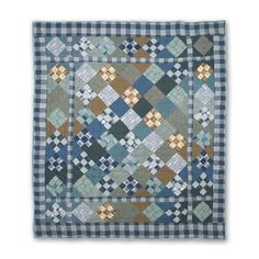 Patch Magic Chambray Nine Patch Throw Quilt - THCH9P