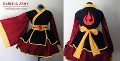 Azula Fire Nation Cosplay Kimono Dress by DarlingArmy