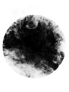Canvases of Monochrome Circle and Smoke II by Trunk Archive (700mm x 900mm) | Shop | Surface View