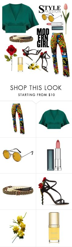 """""""Clr5"""" by ahmetgozek ❤ liked on Polyvore featuring John Galliano, Spitfire, Maybelline, Y/Project, Dolce&Gabbana and modern"""