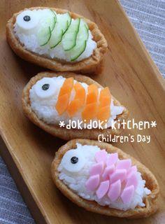 こどもの日に♪こいのぼりのいなり寿司 Bento Recipes, Vegetarian Recipes Easy, Baby Food Recipes, Japanese Baby Food Recipe, Japanese Food, Cute Food, Good Food, Vegan Meal Prep, Vegan Thanksgiving