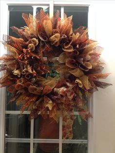 Chalk Paint, Wreaths, Fall, Painting, Home Decor, Autumn, Door Wreaths, Painting Art, Deco Mesh Wreaths